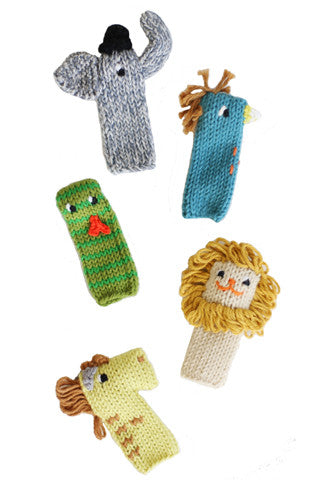 Jungle Knit Finger Puppets Set/5