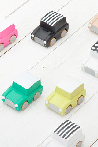 Bright Wooden Toy Cars