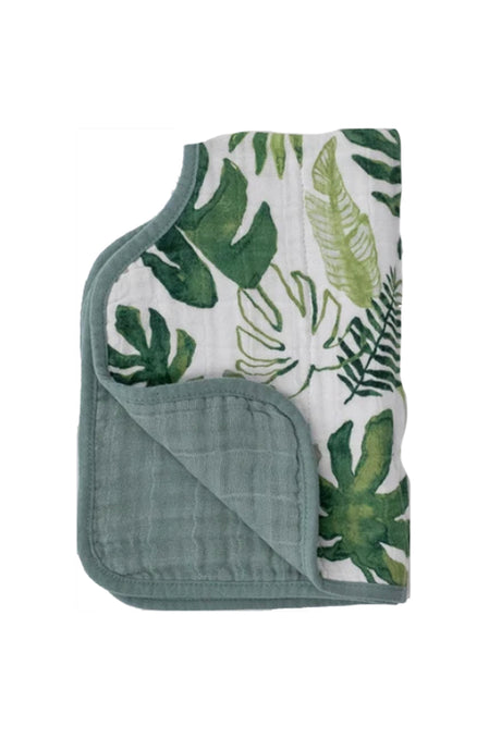 Tropical Leaf Cotton Muslin Burp Cloth