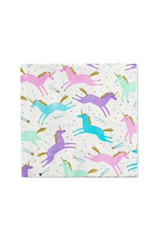 Magical Unicorn Napkins Set/16