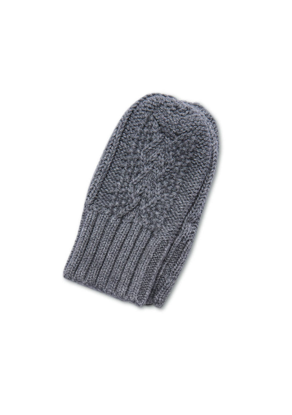 Dark Gray Cable Mittens