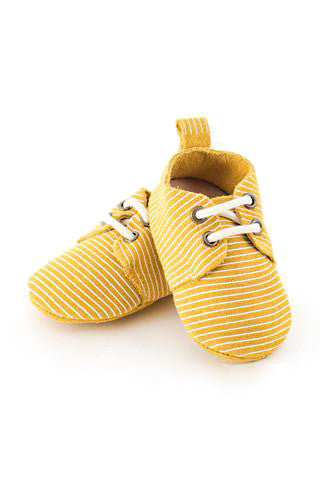 Mustard Stripe Oxfords - Baby