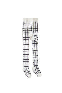 Rylee + Cru Check Ribbed Tights