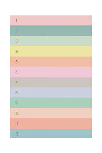 Numbered Colorblock Large Memo Pad