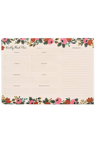 Rosa Weekly Meal Planner Notepad