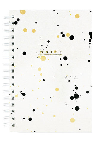 Pebble Drip Painted Notebook