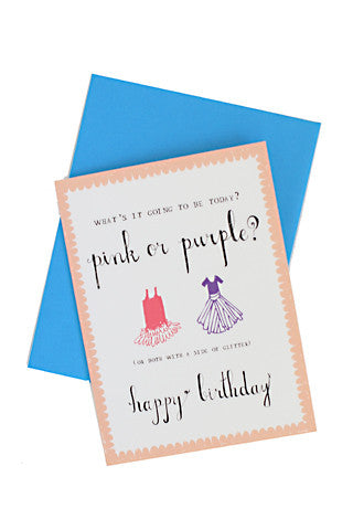 Pink or Purple Birthday Card