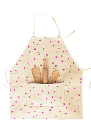 Pink Star Kids Apron