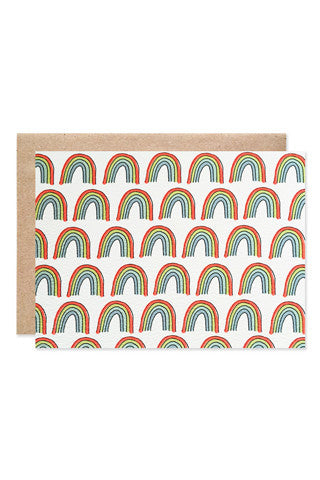Rainbow Print Stationery Set