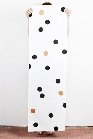 Dotted Black & Bronze Table Runner