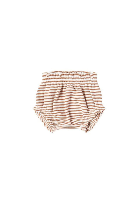 Gathered Baby Bloomer | Rust Stripe