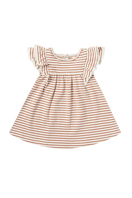 Flutter Dress | Rust Stripe