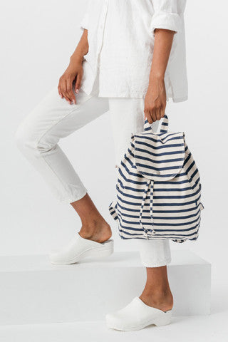 Sailor Stripe Drawstring Backpack