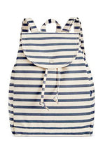 Load image into Gallery viewer, Sailor Stripe Drawstring Backpack