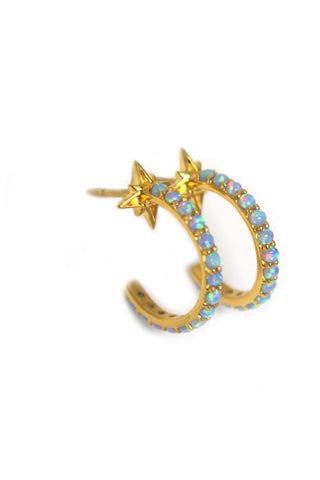 Opal Shooting Star Hoops