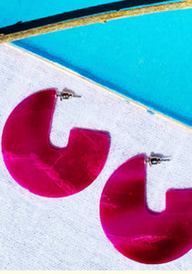 Sierra Earrings | Fuschia