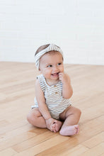 Load image into Gallery viewer, Striped Sleeveless Bubble Onesie | Grey