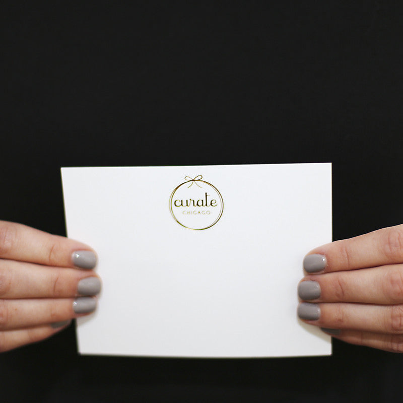 Curate Gold Foil Stationery