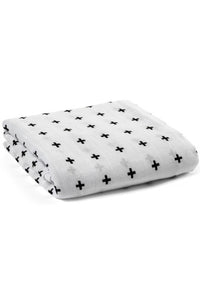 Organic Muslin Swaddle Blanket - Swiss Cross