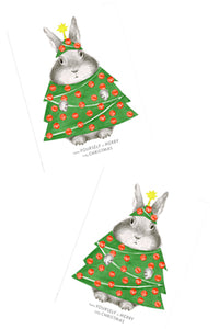 Bunny in Tree Costume Card