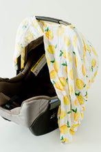 Load image into Gallery viewer, Cotton Muslin Car Seat Canopy | Lemon