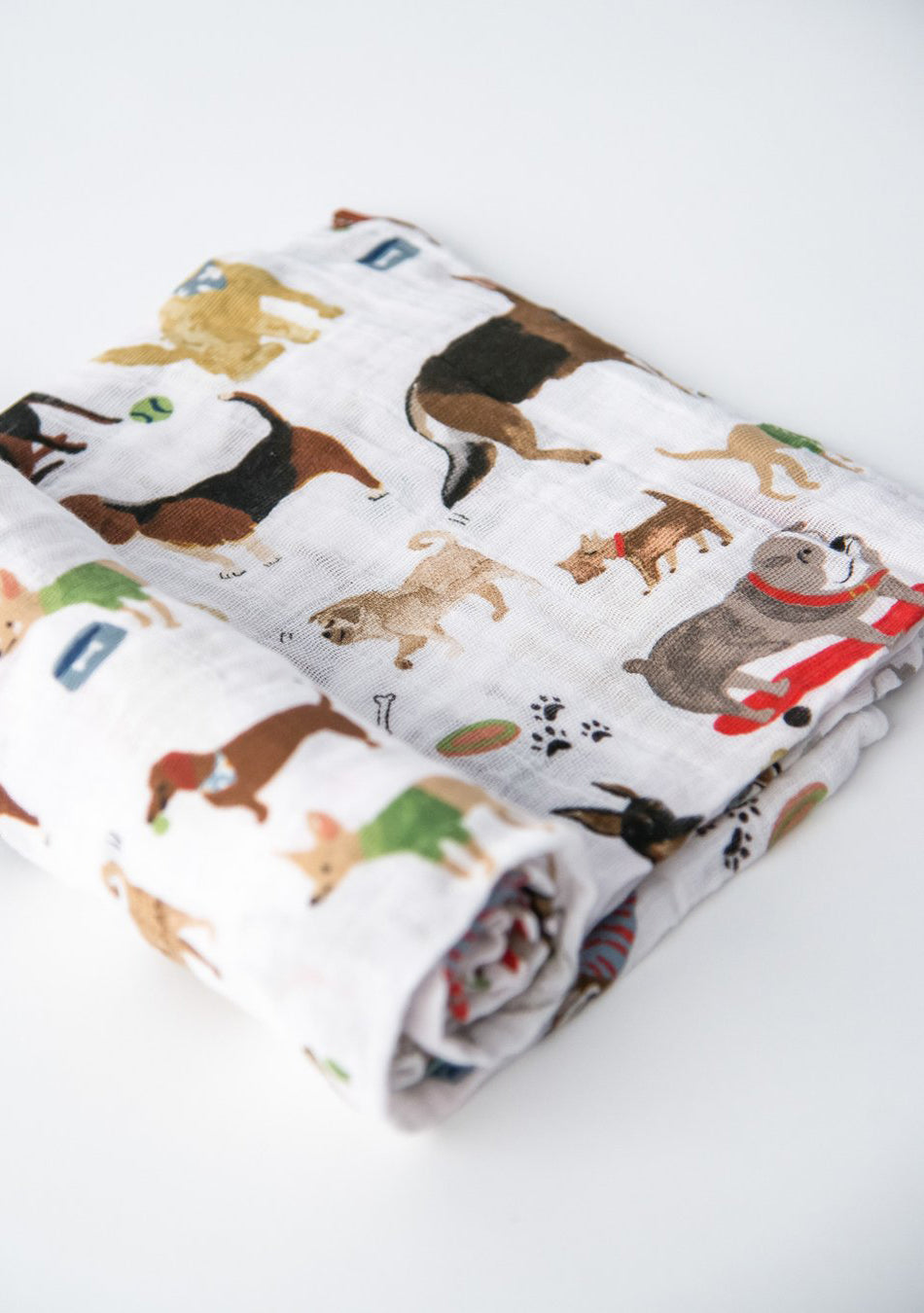 Woof Cotton Muslin Swaddle