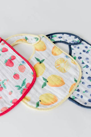 Berry Lemonade Cotton Muslin Bib Set