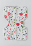 Summer Poppy Cotton Muslin Burp Cloth