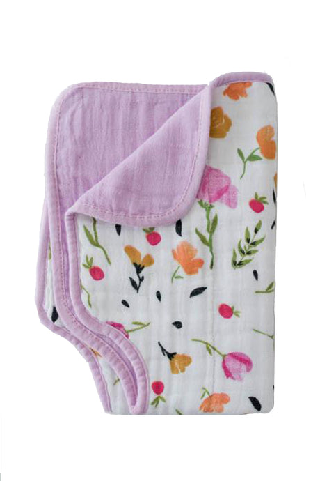Berry & Bloom Cotton Muslin Burp Cloth