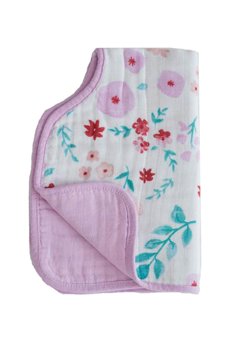 Morning Glory Cotton Muslin Burp Cloth