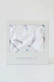 Narwhal Cotton Hooded Towel & Wash Cloth
