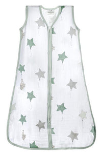 Classic Small Muslin Sleeping Bag - Up, Up & Away