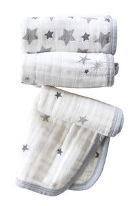 Classic Twinkle Washcloth Set/3