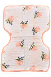 Watercolor Rose Cotton Muslin Burp Cloth