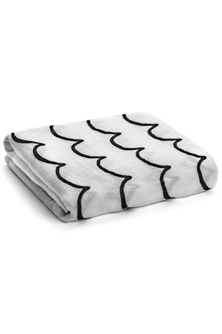 Organic Muslin Swaddle Blanket - Waves