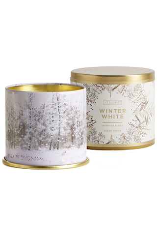 Winter White Tin Candle