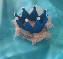 Mini Glitter and Lace Crown Hair Clips! - Princesses Design