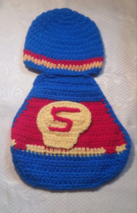 Superman Crochet Baby Boy Photo Prop - Princesses Design