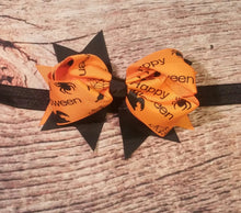 Halloween Bow Hair Clips Or Headbands! Black Or Orange! - Princesses Design