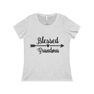 Blessed Grandma Short Sleeve Scoop Neck Tee