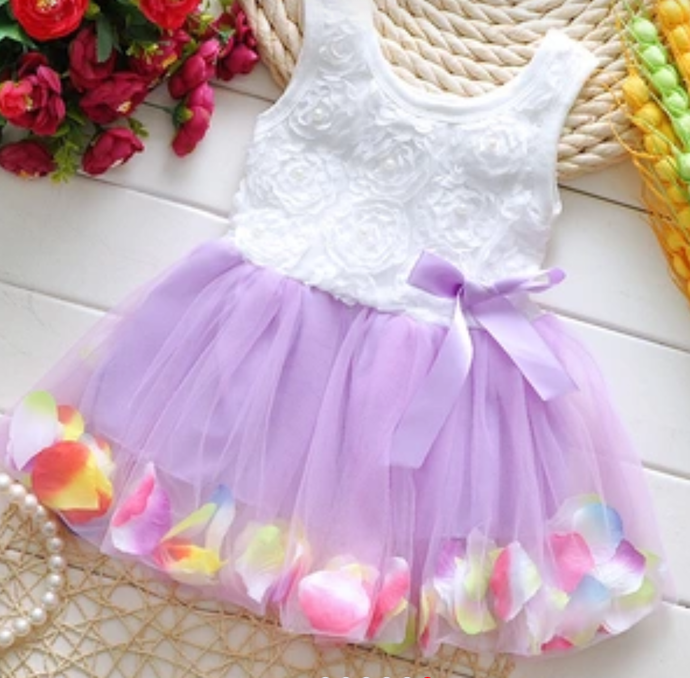 Gorgeous White and Purple Dress! 12 Months and 2T. - Chandra's Bowtique  - 1