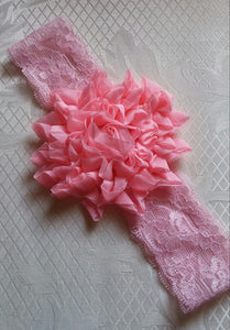 Pink Glitter Flower Headband - Princesses Design
