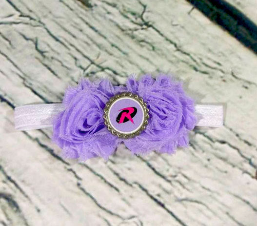 Purple Robin Headband - Batman and Robin - Baby Girl Headbands - Baby Headbands - Baby Bows - Girls Hair Bows - Infant - Toddler - Baby Girl - Princesses Design