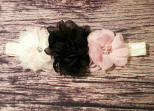 Black Ivory and Pink Headband and Barefoot Sandals - Princesses Design