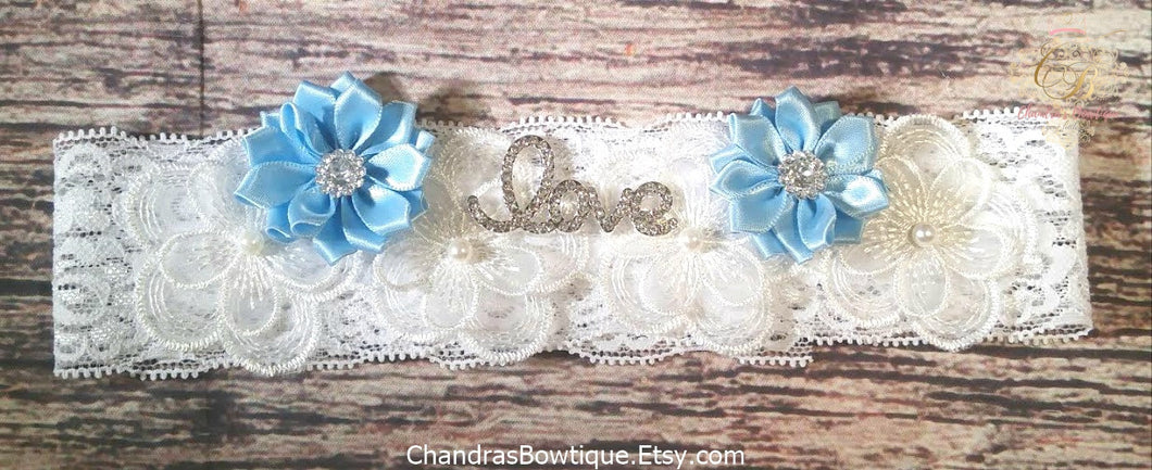 Satin Flower White Lace Love Headband / You Choose Flower / Baby Headband / Toddler Headband / Infant Headband / Beautiful Headband / Bows - Princesses Design