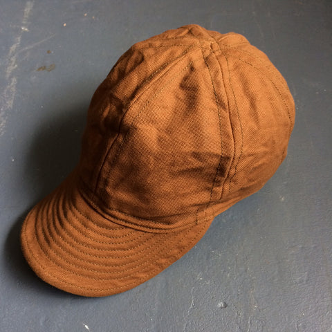 Mechanics Cap in Brown Canvas