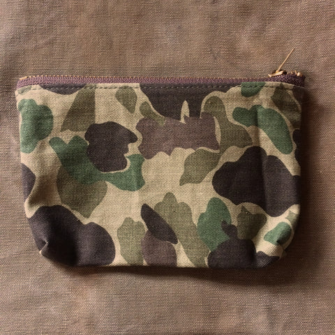 Small Zip Pouch in Frogskin Camo