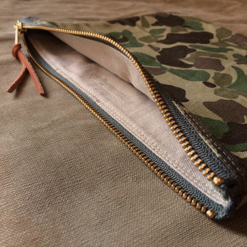 Large Zip Pouch in Frogskin Camo