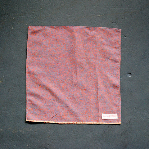 Handkerchief - Salmon & Aqua Chambray