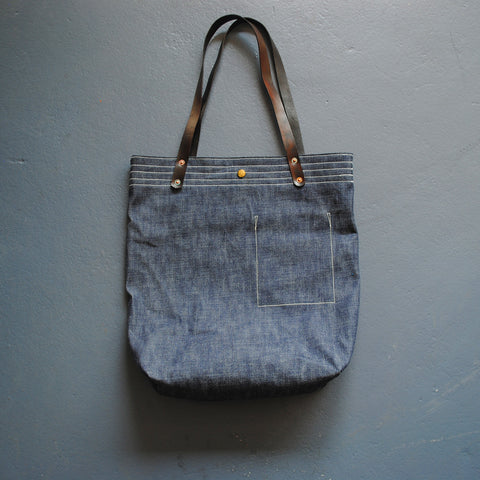 Market Bag in Selvage Denim